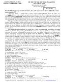 Đề thi thử Đại học 2014 môn Tiếng Anh (Mã đề 579)