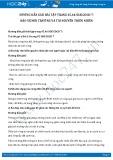 Giải bài tập Bảo vệ môi trường và tài nguyên thiên nhiên SGK GDCD 7
