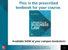 Lecture Fundamentals of business law (7/e): Chapter 23 - M.L Barron