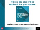 Lecture Fundamentals of business law (7/e): Chapter 3 - M.L Barron