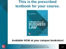 Lecture Fundamentals of business law (7/e): Chapter 1 - M.L Barron
