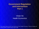Lecture Health economics - Chapter 13: Government regulation and intervention (Part 1)