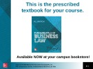 Lecture Fundamentals of business law (7/e): Chapter 14 - M.L Barron
