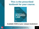 Lecture Fundamentals of business law (7/e): Chapter 6 - M.L Barron
