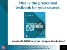 Lecture Fundamentals of business law (7/e): Chapter 10 - M.L Barron