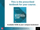 Lecture Fundamentals of business law (7/e): Chapter 11 - M.L Barron
