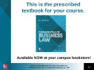 Lecture Fundamentals of business law (7/e): Chapter 20 - M.L Barron