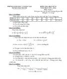 Bộ đề thi học kì 2 môn Toán lớp 7 năm 2015-2016