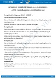 Giải bài tập Quyền và nghĩa vụ lao động của công dân SGK GDCD 9