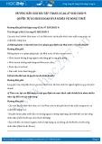 Giải bài tập Quyền tự do kinh doanh và nghĩa vụ đóng thuế SGK GDCD 9