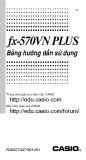 Bảng hướng dẫn sử dụng fx-570VN PLUS