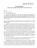 Bài thu hoạch: Học tập, quán triệt Nghị quyết Hội Nghị TW 4 (khóa XII) của Đảng