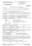 Đề thi thử THPT Quốc gia môn Hóa học năm 2016 - Trường THPT Chuyên KHTN