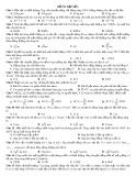 Đề thi thử học kỳ 2 môn Vật lý 10