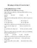 Đề cương ôn thi học kì 2 môn Hóa học 8
