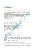 Bài tập liên quan đến tính chất riêng của 1 số axit