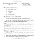 Đề thi học kì 1 môn Toán lớp 11 - Trường THPT Chuyên Quốc Học