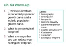 Lecture AP Biology - Chapter 53: Population ecology