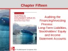 Lecture Auditing and assurance services (Second international edition) - Chapter 15: Auditing the financing/investing process