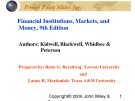 Lecture Financial institutions, markets, and money (9th Edition): Chapter 20 - Kidwell, Blackwell, Whidbee, Peterson