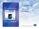 Lecture Principles of Managerial finance (4th edition): Chapter 10 - Lawrence J. Gitman