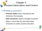 Lecture Operating system principles - Chapter 3: Process description and control