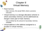 Lecture Operating system principles - Chapter 8: Virtual memory