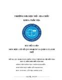 Bài tiểu luận môn Cơ sở quy hoạch và quản lý lãnh thổ: Quy hoạch xây dựng vùng thủ đô Hà Nội đến năm 2020 và tầm nhìn đến năm 2050