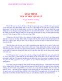 Giáo trình tâm lý học quản lý - PGS.TS Vũ Dũng