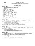 Bộ đề kiểm tra môn Hóa học lớp 8