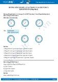 Giải bài Xem đồng hồ (tiếp theo) SGK Toán 3