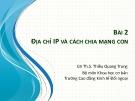 Bài giảng Tin học văn phòng 2: Bài 2 - ThS. Thiều Quang Trung