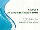 Bài giảng học phần Thiết kế website thương mại điện tử: Chương 2 - ThS. Thiều Quang Trung