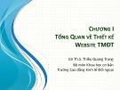 Bài giảng học phần Thiết kế website thương mại điện tử: Chương 1 - ThS. Thiều Quang Trung