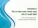 Bài giảng Tin học văn phòng 2: Bài 5 - ThS. Thiều Quang Trung