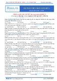 Bài toán thủy phân Este - Đề 1