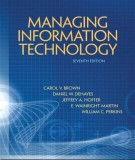 Ebook Managing information, technology (7th edition): Part 1
