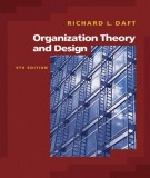 organization theory and design (9th edition): part 1