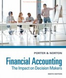 Ebook Financial accounting - The impact on decision makers (9th edition): Part 1