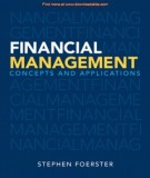 Ebook Financial management - Concepts and applications: Part 1