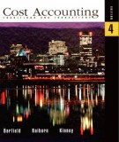 Ebook Cost accounting (4th edition): Part 1