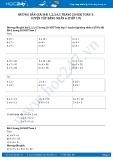Hướng dẫn giải bài 1,2,3,4,5 trang 20 SGK Toán 3