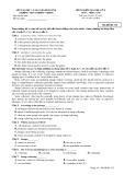 Đề thi kiểm tra học kỳ II môn tiếng Anh (mã đề 132)