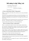 Đề cương ôn tập Tiếng Anh