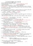 Bài tập trắc nghiệm Sinh học 10