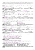 Bài tập trắc nghiệm Vật lý 11 - Chương 1