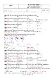 Đề kiểm tra học kỳ I môn Hóa học lớp 10 (Mã đề thi 132)