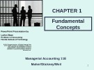 Lecture Managerial accounting (11E) - Chapter 1: Fundamental concepts