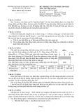 Đề thi học kỳ II năm học 2014-2015 môn Vật lý đại cương 2 - Đại học Sư phạm Kỹ thuật TP. Hồ Chí Minh