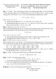 Đề thi môn Toán ứng dụng trong kỹ thuật - Đại học Sư phạm Kỹ thuật TP. HCM